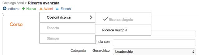 screenshot di ricerca multipla
