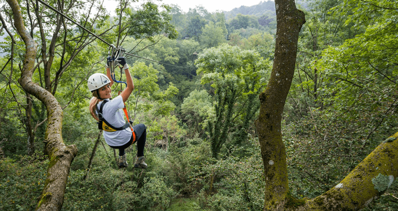 gare di tree adventure: team building aziendale