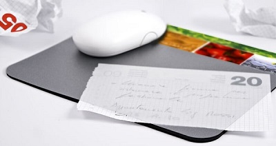 gadget ufficio mousepad porta documenti