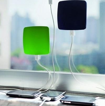 gadget ufficio caricabatterie solare