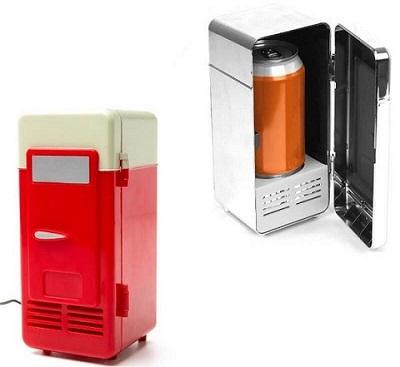gadget ufficio mini frigo usb
