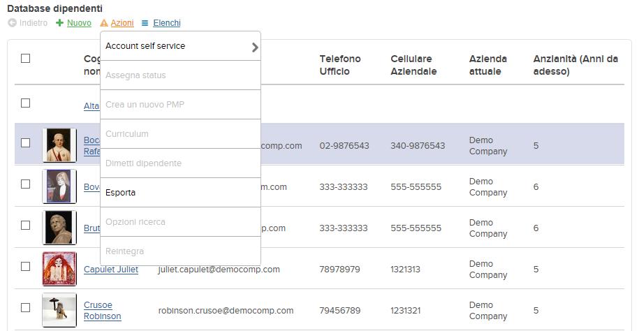 menu di esportazione dati Altamira (1)