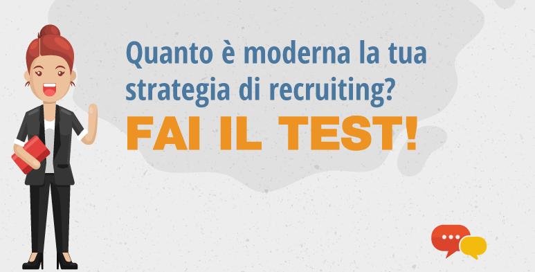 banner infografica test strategia recruiting