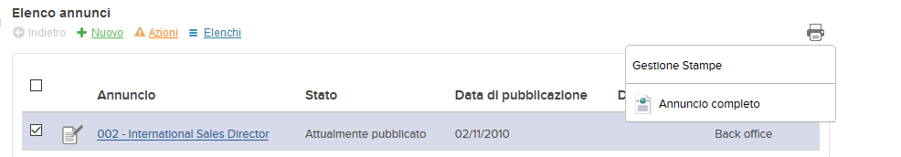 screenshot icona gestione stampe