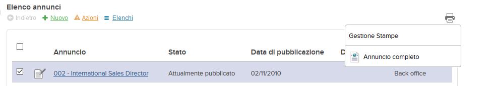 screenshot icona gestione stampe