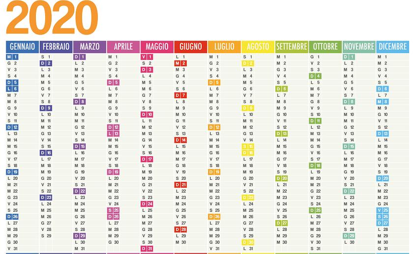 Calendario HR 2020