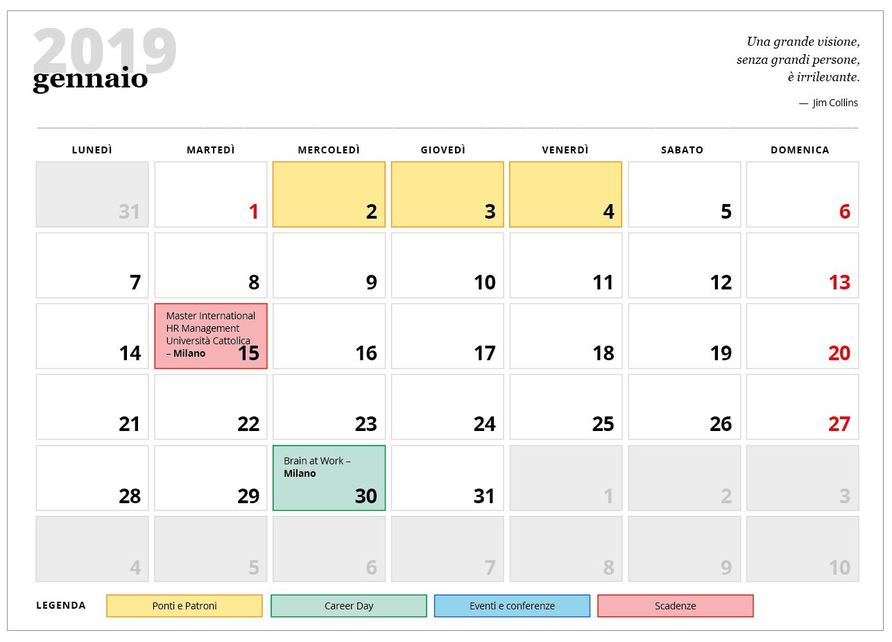 calendario HR 2019 preview