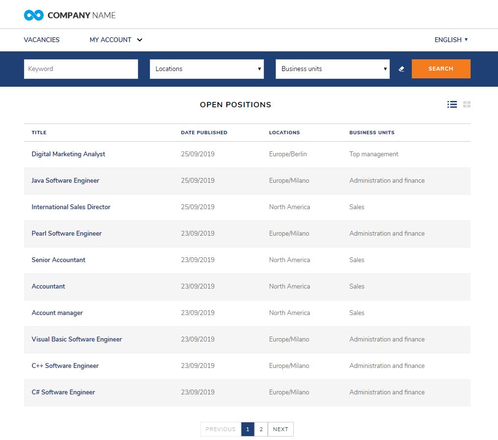 Homepage Career Site Altamira