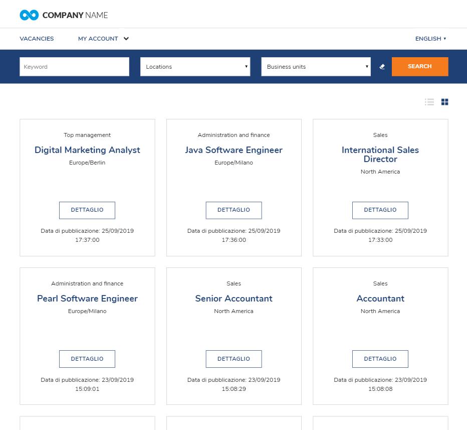 lista annunci career site Altamira