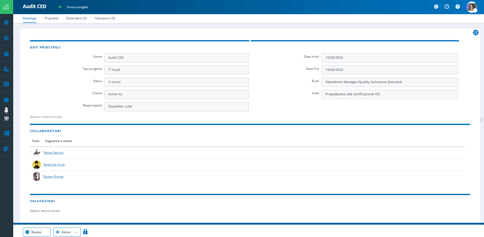 Progetto HR completo
