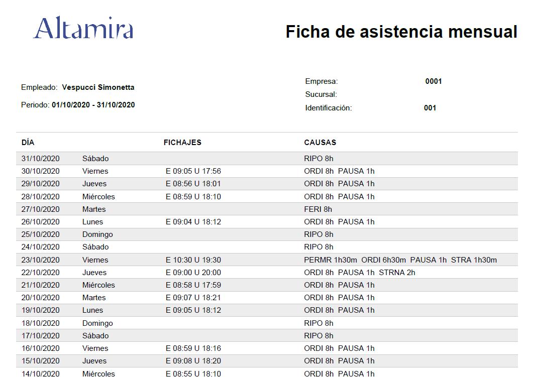 Ficha asistencias PDF